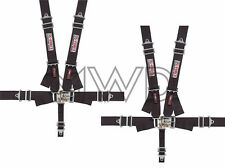 G-Force Black Pro Series 5 Point Shoulder Harness Racing Seat Belts SFI 2 Sets