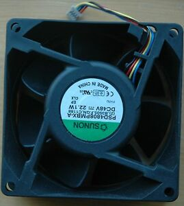 Sunon PSD4808PMBX-A Fan, Blower, 48V DC, 0.46A, 22.1 Watts