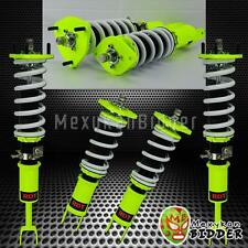 Hyper Yellow Adjustable Suspension Coilover Damper System For Infiniti G35 03-07