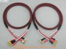 S01Bw(B) (1m 3ft)--Pair HIFI Canare Bi-Wire Speaker Audio Cable 2xSpade 4xBanana