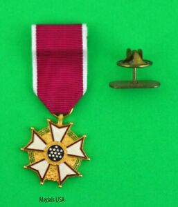 Legion of Merit Medal (LM LOM) - miniature mini size with Holder - USA made