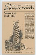 Tampico Tornado Dutch Treat Inn TAMPICO IL Ronald Reagan Birth Illinois Postcard