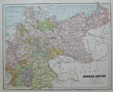 1893 Antique GERMANY Map GERMAN EMPIRE Map of Germany Gallery Wall Art 1313