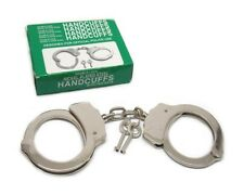Manette Professionali in Acciaio Nickel uso Polizia Vigilanza Softair handcuffs