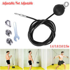Black Coated Steel Wire Rope Kit DIY Weight Stack Multi Gym Cable Cross Rope