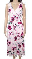Lauren By Ralph Lauren Women's Dress Pink Size 12 A-Line Floral Belted $145 #272