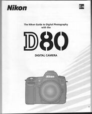 Nikon D80 Camera Manual, More ORIGINAL Instruction Books Listed - NOT a copy!