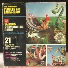 VINTAGE 1973 FLINTSTONES GAF TALKING VIEWMASTER REELS - PEBBLES & BAMM BAMM