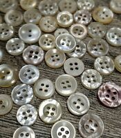 """⭐️   ANTIQUE~VINTAGE CHINA BUTTONS~LOT OF 100 ASSORTED /""""BLACKS/""""     ⭐️"""