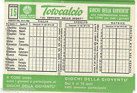 SCHEDINA TOTOCALCIO INTONSA=CONCORSO N°15 DEL 29/11/1981