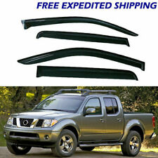 4x Fit For Nissan Frontier Crew Cab 2005-2018 Window Visors Smoke Vent Sun Shade (Fits: Nissan)