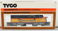 TYCO HO Chessie F-9 Locomotive 224-03 Unused Collectible in Box