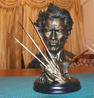 "Super Hero X-MAN Wolverine Logan Bust Model Hugh Jackman Resin Statue 12""H HOT!"