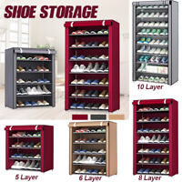 5/6 Layers Dustproof Shoe oot Rack Shelf Storage Closet Organizer Cabinet