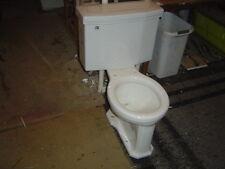 VINTAGE 1950's Compton BOWL ROUND Complete American Standard 4043 toilet WHITE