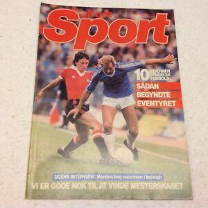Frank Worthington Mike Duxbury Man Utd Birmingham 1980 Danish Football Magazine