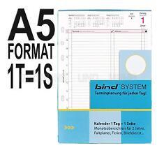 bind A5 - Kalender für Systemplaner Terminplaner Organizer - 1 Tag auf 1 Seite