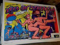 KEEP ON STREAKIN 1974 74 VINTAGE BLACKLIGHT NOS POSTER By Steve Menlow -NICE!