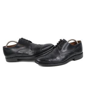 Loake Mens UK 7.5 US 8.5 Lace Leather Wingtip Oxford Dress Shoes Black England