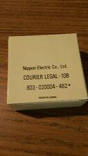 NOS genuine Nec print thimble for NEC impact printers. Font Courier Legal 10B