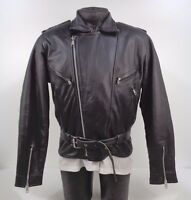Ex Police Leathers Leather Motorcycle Biker Bike Scooter Cruiser Jacket F4 SL15