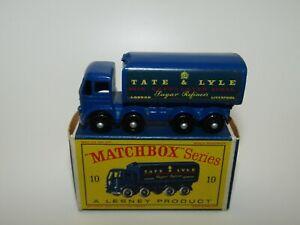 Lesney Matchbox No 10 Foden Sugar Container BPW VNMIB D Box