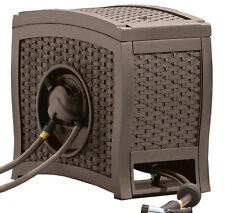 Suncast 125 ft. AquaWinder® Auto Rewind Resin Free-Standing Hose Reel, Java