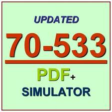 Latest 70-533 Verified Practice Test 533 Exam QA PDF+Simulator