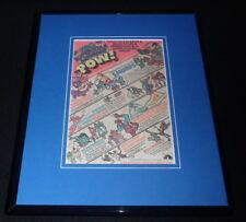 1981 NBC Saturday Morning Cartoons Framed 11x14 ORIGINAL Advertisement Smurfs