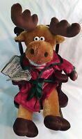 Dandee Animated Singing Rocking Christmas Moose Grandma Got Run Over By Reindeer
