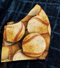 HANDMADE COTTON FACE MASK - Vintage Baseball Adult size fits most- Free Shipping