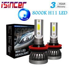 H11 LED Headlight Conversion Kit Lamp 20000LM High Low Beam Bulbs 8000K ICE Blue
