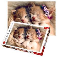 Trefl 500 Piezas Adulto Gato durmiendo Gatitos Lindo cansado Sleepy Rompecabezas Grande