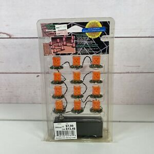 """2002 LEMAX SPOOKY TOWN COLLECTION # 24761 (12)""""PUMPKIN LUMINARY STRING OF LIGHTS"""