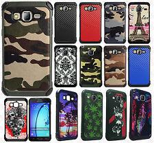 Samsung Galaxy On5 Rubber IMPACT TRI HYBRID Case Skin Phone Cover + Screen Guard