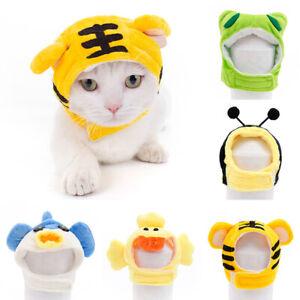 1PC Pet Cartoon Animals Shaped Cosplay Costume Cat Hat Decor Headgear Dog XS-L