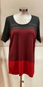 BLACK/RED TOP BY DESIGNER LEO & UGO- NEW WITH TAGS- WAS £125.00     LG03G