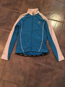 CANARI Light Full Zip Cycling Blue jacket. 84% polyester  16% spandex size M