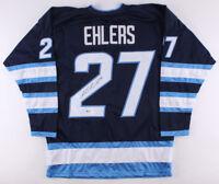 Nikolaj Ehlers Signed Winnipeg Jets Jersey (Beckett) 9th Overall Pick 2014 Draft