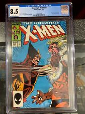 Uncanny X-Men #222 CGC 8.5, Marvel Comics, Iconic Marauder Battle and Cover 1987