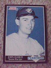 John Olerud FRAN 1991 Score RARE BLANK BACK PROOF CARD hand-cut from sheet!