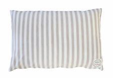 Krasilnikoff Kissenhülle Streifen taupe weiß sand gestreift Kissen 40x60 cm