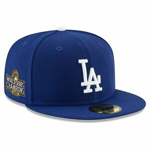 Los Angeles Dodgers New Era 2020 World Series Champions Sidepatch 59FIFTY Fitted