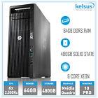 Hp Z620 Workstation Pc Xeon E5-2640 6 Core Cpu 64gb Ram 480gb Ssd Win 10 Pro