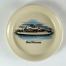 Sea Princess Ceramic Painted Dish Cruise Travel Souvenir Plate Nautical