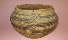 Vintage Early Native American Indian Apache Hand Woven Decorated Basket Olla