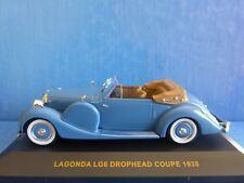 LAGONDA LG6 DROPHEAD COUPE 1938 IXO MODEL MUS039 1/43 BLUE BLEU BLAU MUSEUM