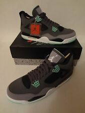 Nike Air Jordan IV 4 Retro GREEN GLOW Size 11.5 Dark Grey Cement 308497 033 NIB