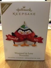 Hallmark Keepsake Ornament 2010 Wrapped in Love - Penguins Love - #QXG7513 New