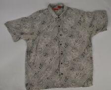 Izod Golf Shirt Size Xl Pattern Print Silk Blend Extra Large Short Sleeve